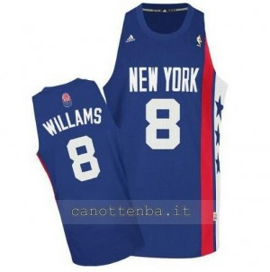 canotte deron williams #8 brooklyn nets retro blu