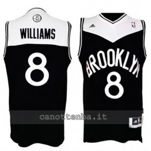 canotte deron williams #8 brooklyn nets retro nero