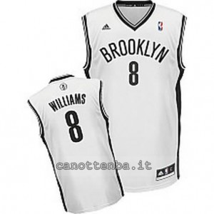 canotte deron williams #8 brooklyn nets revolution 30 bianca