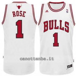 canotte derrick rose #1 chicago bulls revolution 30 bianca