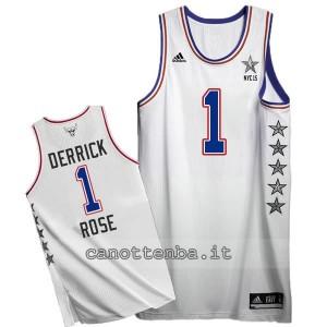canotte derrick rose #1 nba all star 2015 bianca