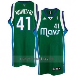 canotte dirk nowitzki #41 dallas mavericks mavs revolution 30 verde