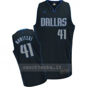 canotte dirk nowitzki #41 dallas mavericks navy blu
