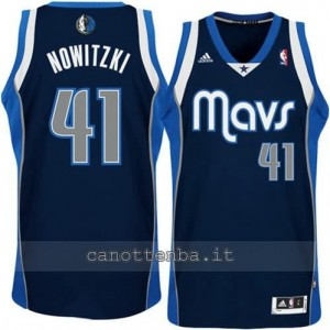 canotte dirk nowitzki #41 dallas mavericks revolution 30 blu
