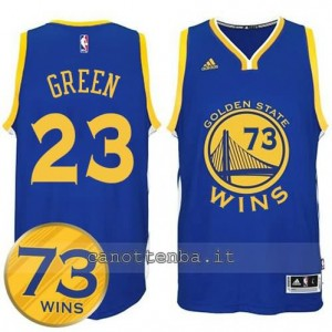 canotte draymond green #23 golden state warriors 73 wins 2016 blu