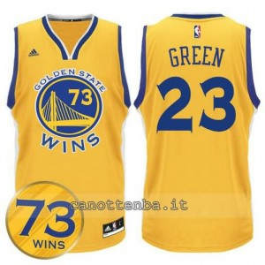 canotte draymond green #23 golden state warriors 73 wins 2016 giallo