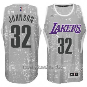 canotte earvin johnson #32 los angeles lakers lights grigio