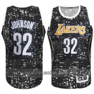 canotte earvin johnson #32 los angeles lakers lights nero