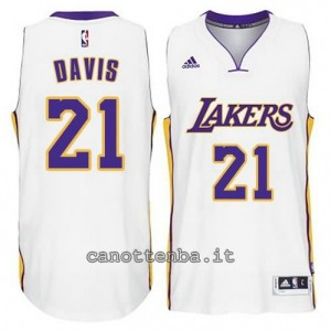 canotte ed davis #21 los angeles lakers 2014-2015 bianca