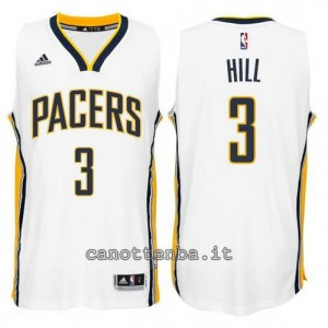 canotte george hill #3 indiana pacers 2014-2015 bianca