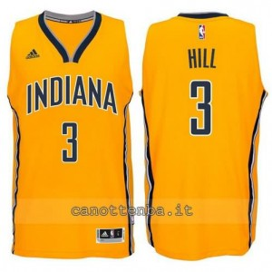 canotte george hill #3 indiana pacers 2014-2015 giallo