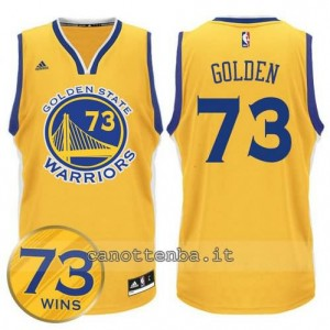 canotte golden state warriors 73 wins 2016 giallo