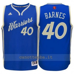 canotte harrison barnes #40 golden state warriors natale 2015 blu
