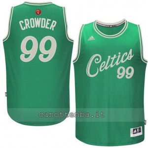 canotte jae crowder #99 boston celtics natale 2015 verde