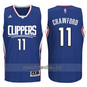 canotte jamal crawford #11 los angeles clippers 2015-2016 blu