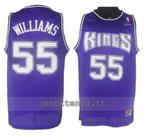 canotte jason williams #55 sacramento kings porpora