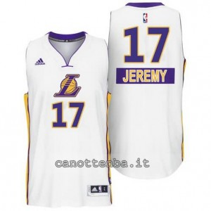 canotte jeremy lin #17 los angeles lakers natale 2014 bianca