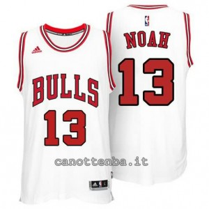 canotte joakim noah #13 chicago bulls 2014-2015 bianca
