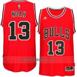 canotte joakim noah #13 chicago bulls 2014-2015 rosso