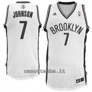 canotte joe johnson #7 brooklyn nets revolution 30 bianca
