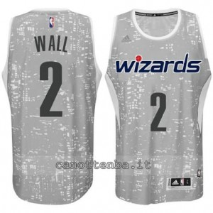 canotte john wall #2 washington wizards lights grigio