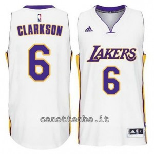 canotte jordan clarkson #6 los angeles lakers 2014-2015 bianca