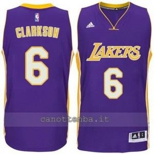 canotte jordan clarkson #6 los angeles lakers 2014-2015 porpora