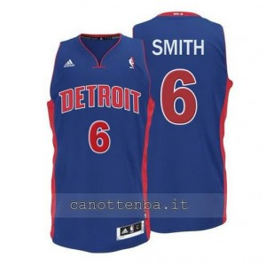 canotte josh smith #6 detroit pistons 2014-2015 blu