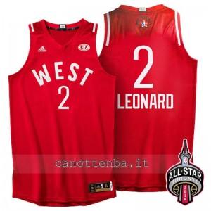 canotte kawhi leonard #2 nba all star 2016 rosso