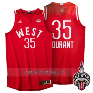 canotte kevin durant #35 nba all star 2016 rosso