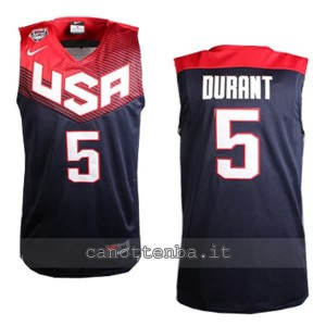 canotte kevin durant #5 nba usa 2014 nero