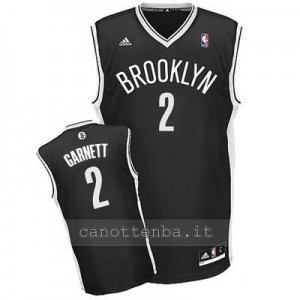 canotte kevin garnett #2 brooklyn nets revolution 30 nero