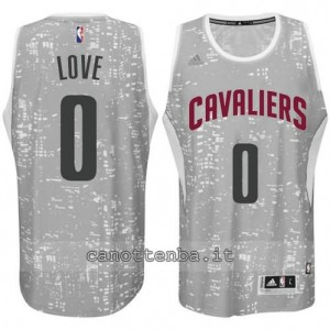 canotte kevin love #0 cleveland cavaliers lights grigio