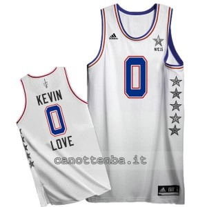 canotte kevin love #0 nba all star 2015 bianca