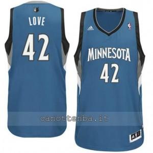 canotte kevin love #42 minnesota timberwolves revolution 30 blu