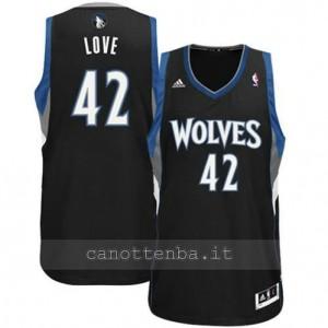 canotte kevin love #42 minnesota timberwolves revolution 30 nero