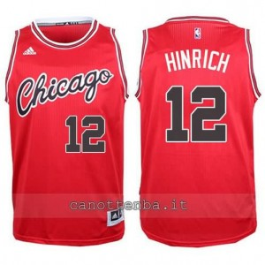 canotte kirk hinrich #12 chicago bulls 2015-2016 rosso