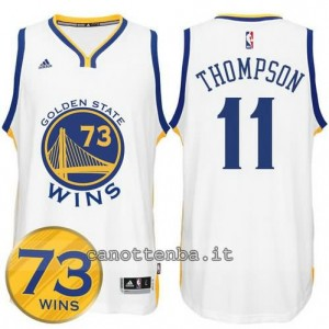 canotte klay thompson #11 golden state warriors 73 wins 2016 bianca