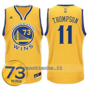 canotte klay thompson #11 golden state warriors 73 wins 2016 giallo