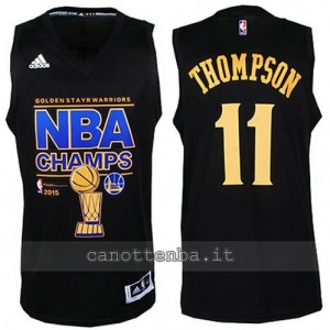 canotte klay thompson #11 golden state warriors campioni 2014-15 nero