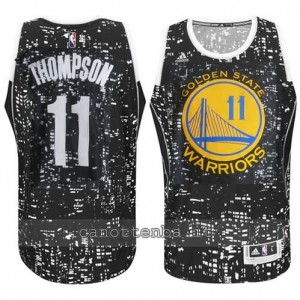 canotte klay thompson #11 golden state warriors lights nero
