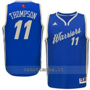 canotte klay thompson #11 golden state warriors natale 2015 blu