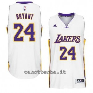 canotte kobe bryant #24 los angeles lakers 2014-2015 bianca