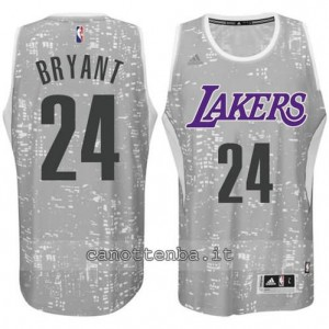 canotte kobe bryant #24 los angeles lakers lights grigio
