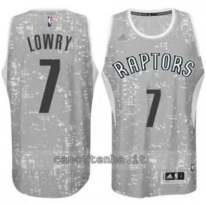 canotte kyle lowry #7 toronto raptors lights grigio