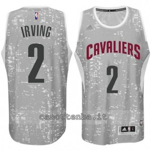 canotte kyrie irving #2 cleveland cavaliers lights grigio