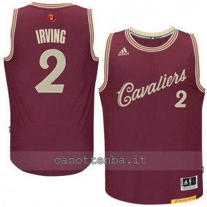 canotte kyrie irving #2 cleveland cavaliers natale 2015 resso