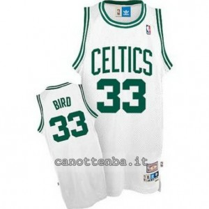 canotte larry bird #33 boston celtics classico bianca