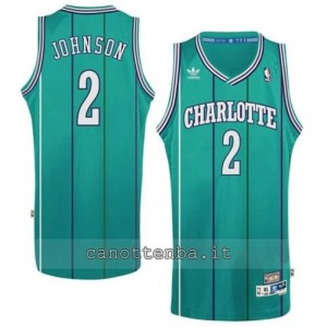 canotte larry johnson #2 charlotte hornets retro