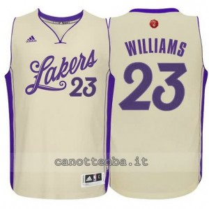 canotte lou williams #23 los angeles lakers natale 2015 giallo